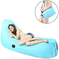 Elipax Inflatable Lounger with Portable Carrying Bag for Indoors or Outdoors with Portable Carrying Bag