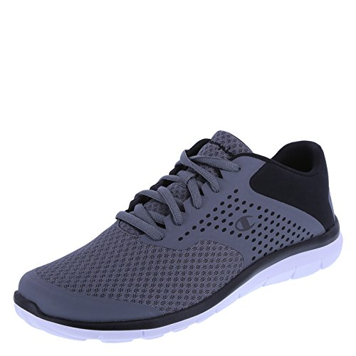 Champion Men's Grey Black Men's Gusto Cross Trainer 14 Regular