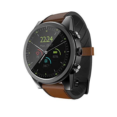 (Touch + Button Smart Watch, Full Netcom/Mobile/Unicom/Telecom Calls / 3 + 32G / Camera/GPS, Sports Smart Watch, Black Brown)