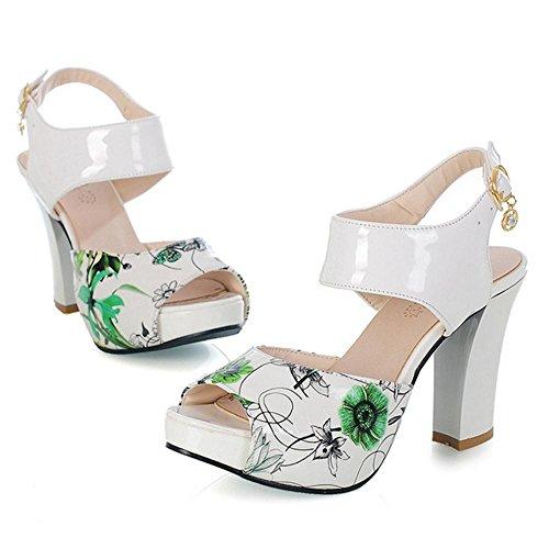 Femmes RAZAMAZA Sandales Toe green Peep 1SUxwqdUnP