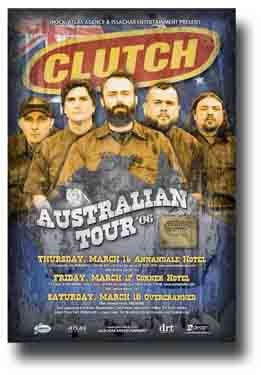 Clutch Poster - Band Oz Concert on Robot Hive Tour