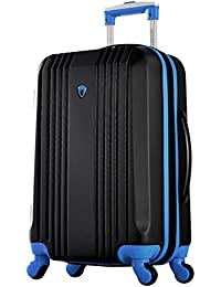 "Apache Ii 21"" Carry-on Spinner, Black+Blue"