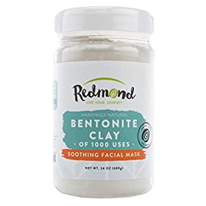 Redmond Clay-Bentonite Clay of 1000 Uses, Soothing Facial Mask, 24 Ounce