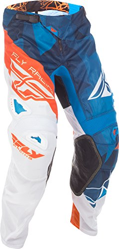 Fly Racing Unisex-Adult Kinetic Mesh Pants (Blue/White/Orange, Size 38)