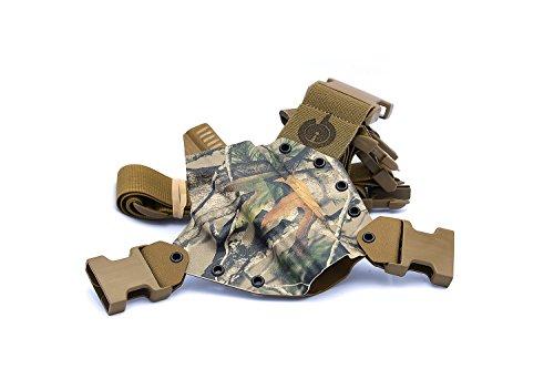 Camo Hip Holster - GunfightersINC Kenai Chest Holster for Glock 20/21/40 MOS, Next Camo Vista/Coyote, Right Hand