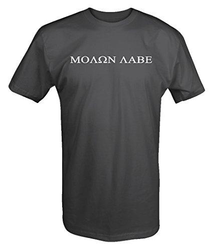 (Molon Labe - 2nd Amendment Gun Rights NRA Tactical T Shirt- Large)
