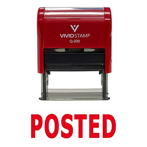 Posted Self Inking Rubber Stamp (Red Ink) - Medium