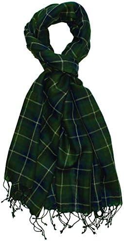 Lorenzo Cana Damen Pashmina Schal Schaltuch 50% Kaschmir 50% Wolle Stola Damentuch Umschlagtuch Uni Damenschal mehrfarbig grün