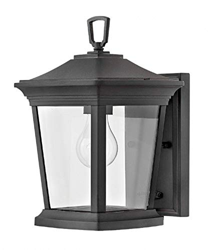 Hinkley 2368MB Bromley Outdoor Wall Sconce, 1-Light 100 Watts, Museum Black