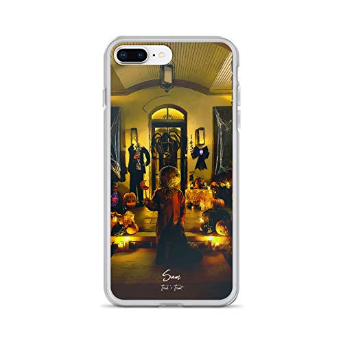 iPhone 7 Plus/8 Plus Case Anti-Scratch Motion Picture Transparent Cases Cover Sam Trick'r Treat Movies Video Film Crystal Clear