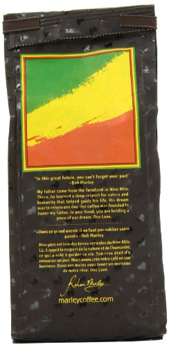 Marley Coffee, Organic One Love, Ethiopian YirgaCheffe, Ground Coffee, 8 Ounce