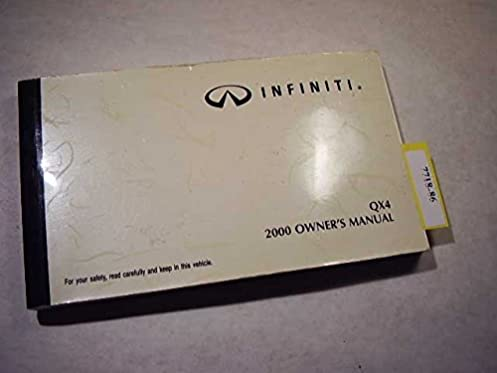 2000 infiniti qx4 owners manual infiniti amazon com books rh amazon com 1999 infiniti qx4 service manual pdf infiniti qx4 service manual download