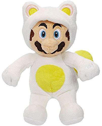 World of Nintendo 88796 Mario Bros U White Tanooki Mario Plush