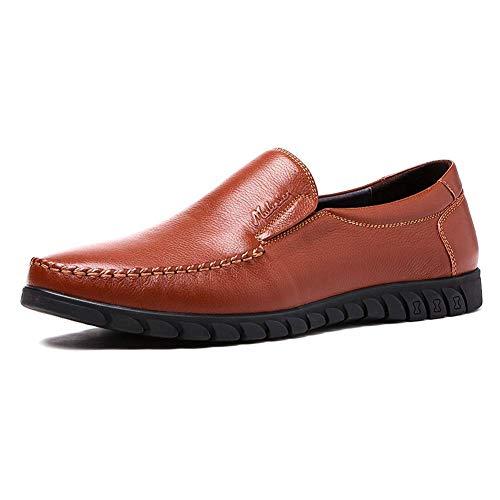 Dimensione uomo Nero in 6 casual 5 comode 5 da pelle scarpe rotondi HhGold Colore Slip UK uomo US uomo da 5 Mocassini Nero On per uomo da qxUaHp