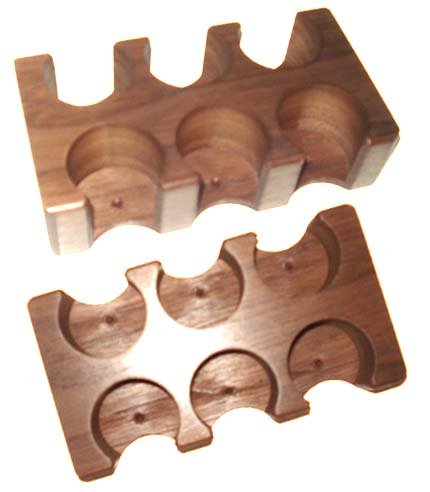 NEW LAMMER / BUTTON RACK - 6 HOLE DOUBLE ROW LAS VEGAS Casino Style by Spinettis