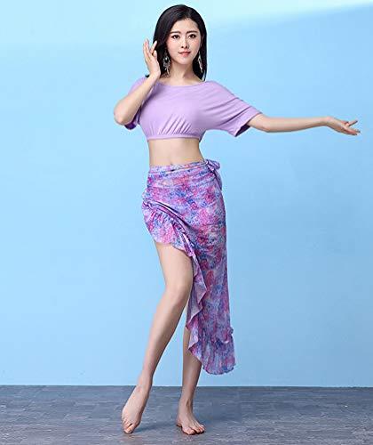 Belly Set danse du YiiJee Ventre et Vtements Violet Dance Jupe de Femme Tops nq8fqY