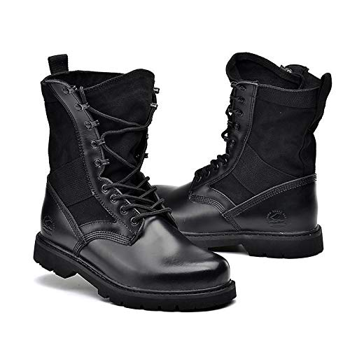 IWxez Damen-Kampfstiefel Nappaleder Winter Classic Vintage Stiefel Flacher Absatz Mitte Mitte Mitte der Wade Stiefel Schwarz Beige 2471d9