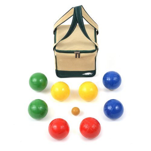 Lion Sports 100 MM Backyard Resin Bocce Set in PVC Carry Bag by Lion Sports