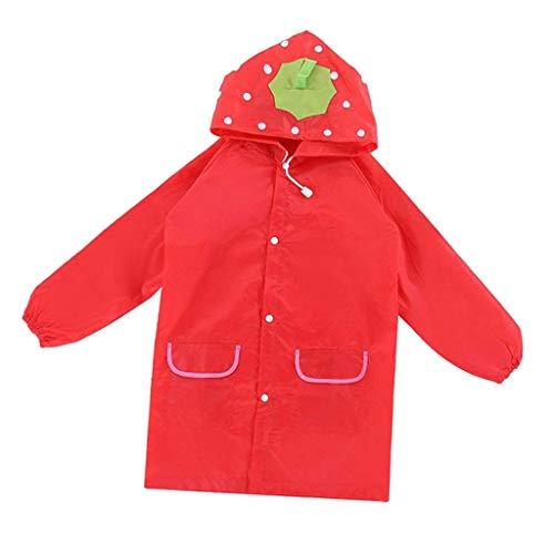 CUTICATE Kids Funny Raincoat Children Hooded Cartoon Waterproof Rainwear for Girls Boys