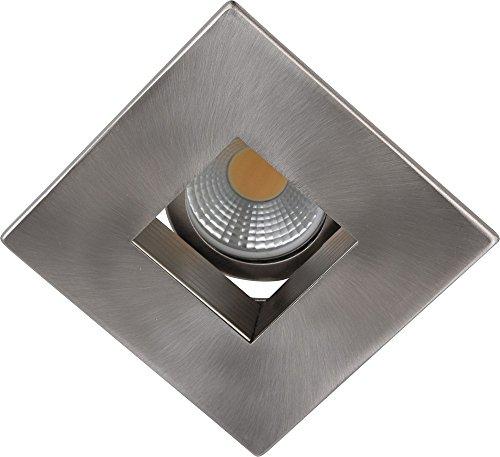 """UPC 848145017831, Elegant Lighting R3-590BN 3"""" Square Baffle Trim, Brush Nickel Finish"""