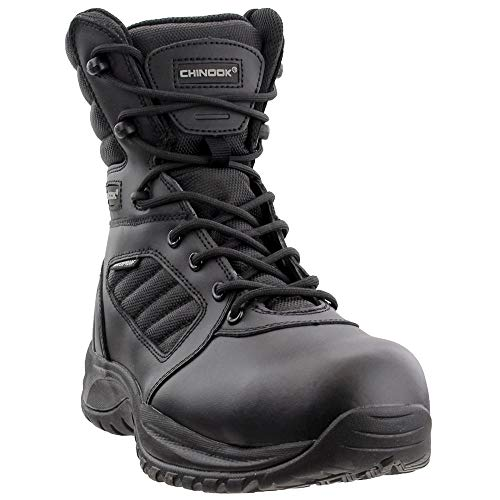 Chinook Mens Cover 8 Inch Comp Toe Casual Boots, Black, 9.5