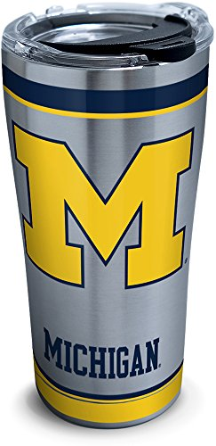 Tervis 1297152 Michigan Wolverines Tradition Stainless Steel Tumbler With Lid, 20 oz, Silver