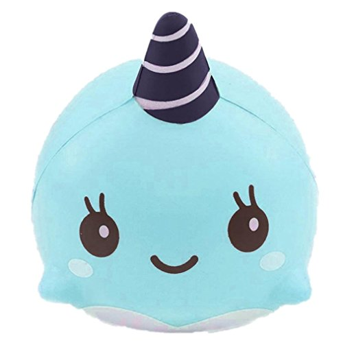 9CM Soft Whale QuickGrowth Squishy Slow Rising Squeeze Kid Toy (Big Whale)
