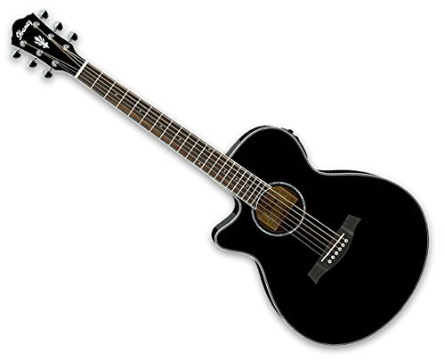 Ibanez AEG10LII Cutaway Acoustic-Electric Lefty Guitar Black B-Stock