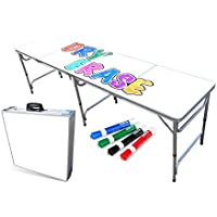 PartyPongTables.com PPPT-300620062 Portable Folding Table w/Dry Erase Surface & Markers