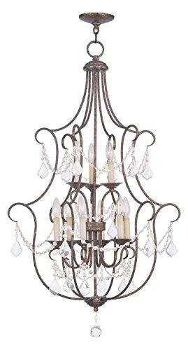 Venetian Golden Bronze Chesterfield Up Lighting 3 Tier Chandelier With 9 Lights (Chesterfield Finish Bronze)