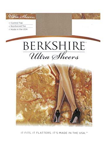 Berkshire Women's Ultra Sheer Control Top Pantyhose 4419 - Reinforced Toe, Nude, 1 ()