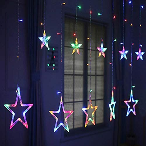 GFSDDS Weihnachtsbeleuchtung Lichterkette Mit 8 Mustersternvorhängen Ac220V Weihnachts-Led-Lichter, Veränderbar