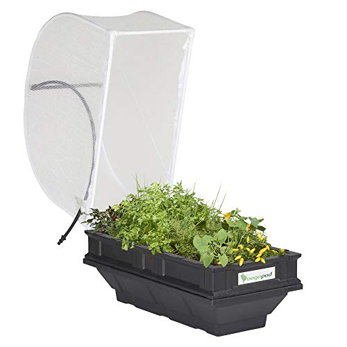 Vegepod - Raised Garden Bed Kit - Small 39.4in x 19.7in (1m x 0.5m) Self Watering Container Garden with Protective Cover, Easily Raised to Waist Height, 10 Years Warranty