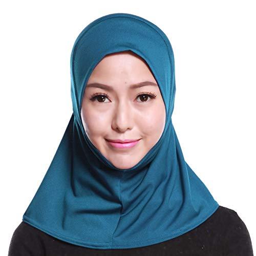 4Pcs Islamic Turban Head Wear Hat Underscarf Hijab Full Cover Muslim Cotton Hijab Cap in 4 Colors (D) by HANYIMIDOO (Image #8)