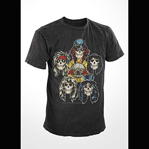 - Guns 'N Roses - Five Skulls - Adult T-Shirt - 2XL