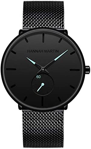 Men's Wrist Watch, Waterproof Classic Quartz Watch for Men Minimalist Dress Watch with Stainless Steel Strap