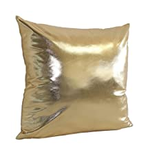 BBire Simple Solid Cushion Cover Throw Pillow Case Sofa Home Decor (gold)