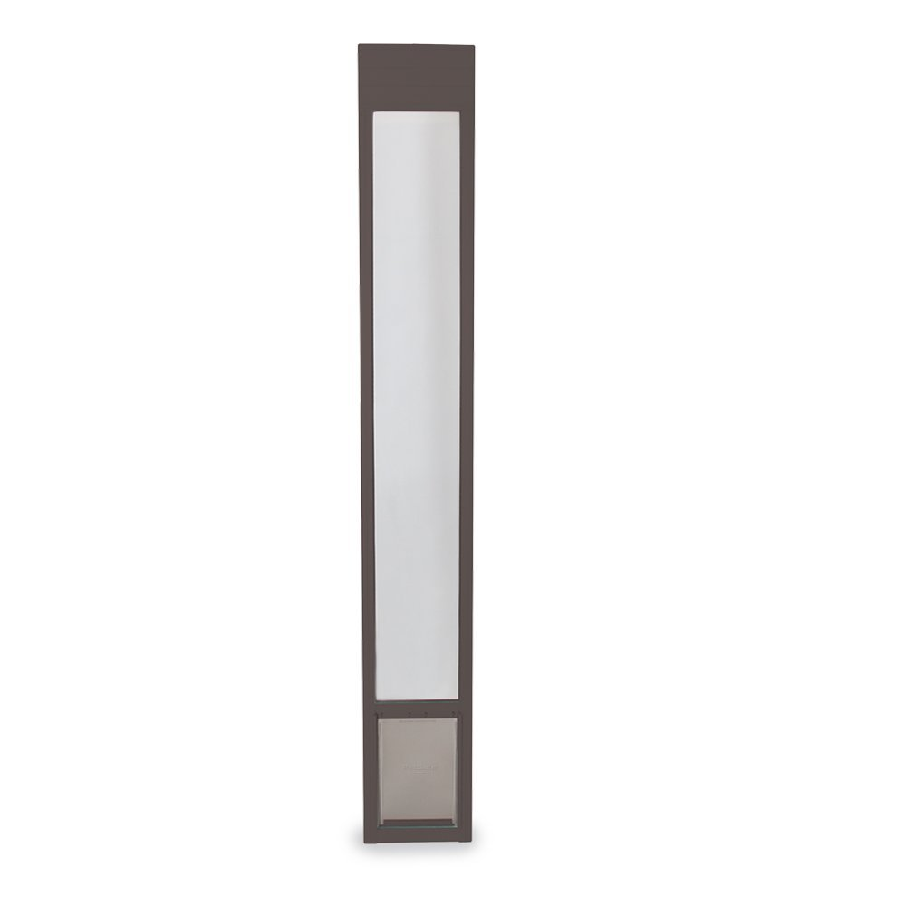 PetSafe Freedom Aluminum Patio Panel Sliding Glass Pet Door Bronze MEDIUM