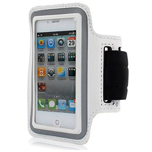 - Deluxe Good Quality Workout Running GYM Armband Case For Apple iPhone 5 5G/iphone 4/4S /iPod Touch 4th 5G (White)