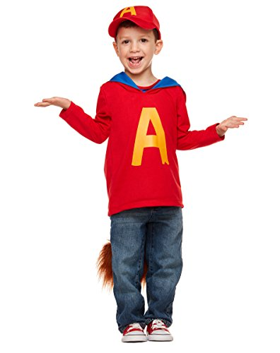The For Chipmunks And Costumes Infants Alvin (Spirit Halloween Toddler Alvin Costume - Alvin and the)