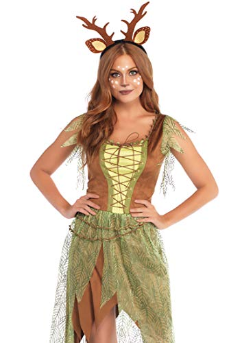 Leg Avenue Womens Woodland Fawn Halloween Costume, Multi, -
