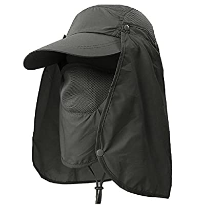 YINGEE Outdoor Fishing Hat, 360 ° UV Sunscreen Sun Hat Removable Neck And Mask Cap, Solar Protection UPF 50+ Outdoor Garden, Fishing Outdoor Activities