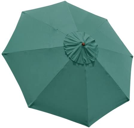 Green 9ft Outdoor Patio Umbrella Replacement Top Canopy