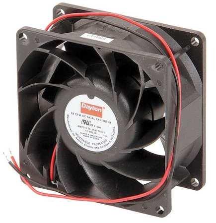Dayton 2RTH4 Axial Fan, 3 1/8 In Sq, 84.1 CFM, 12 V DC