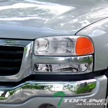 Chrome Clear Lens Front Signal Bumper Lights Lamps Jy Gmc Sierra/Yukon