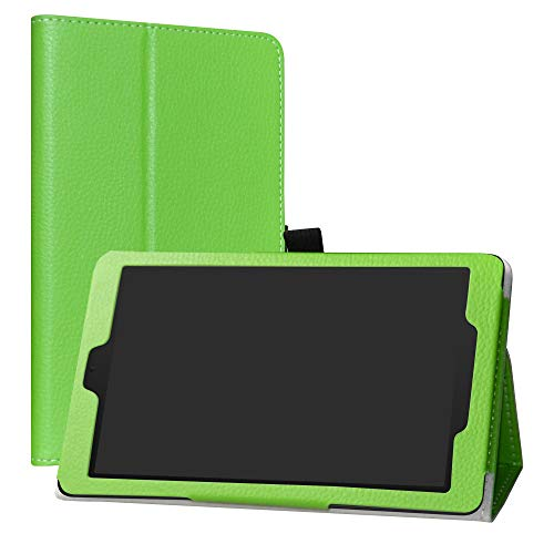 Alcatel 3T 8 Case,LiuShan PU Leather Slim Folding Stand Cover for T-Mobile Alcatel 3T 8 Inch 2018 Android Tablet PC,Green