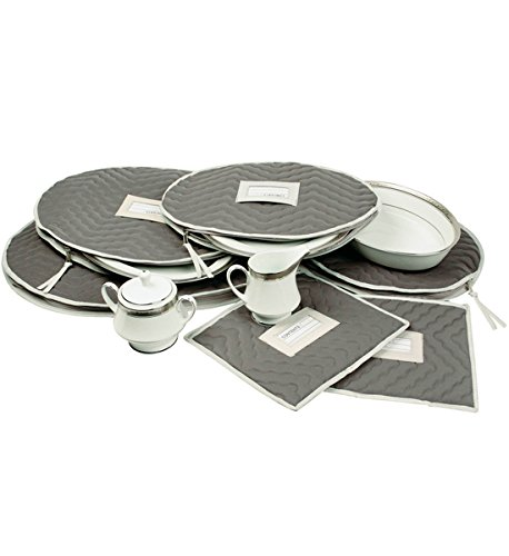 Accessories China - Richards Homewares Micro Fiber Deluxe Six Piece Accessory Set - Gray (7095)