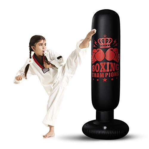 """Inflatable Punching Bag for Kids, 67""""Standing Boxing Bag Freestanding Toddler Boxing Column for Karate Kickboxing…"""