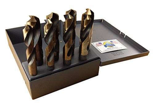 "Drill Hog Silver & Deming Drill Bit Set 9/16"" to 1"" Lifetime"