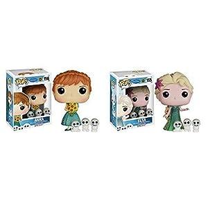 Disney Frozen Fever Anna, Elsa Pop! Vinyl Figures Set of 2!